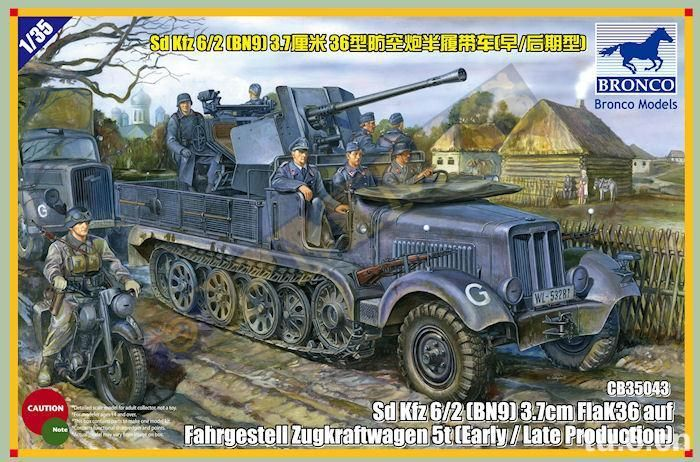 Bronco Sd.Kfz.6/2 5t 3.7cm Flak36 half-track (BN9) Early/Late