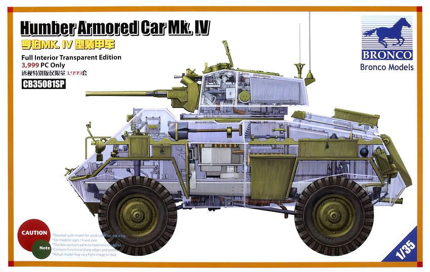 Bronco British Humber Armored Car Mk.IV