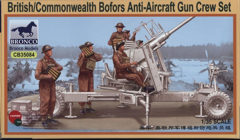 Bronco British/Commonwealth Bofors Gun crew set