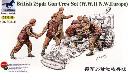 Bronco British 25pdr Gun Crew Set (Europe)