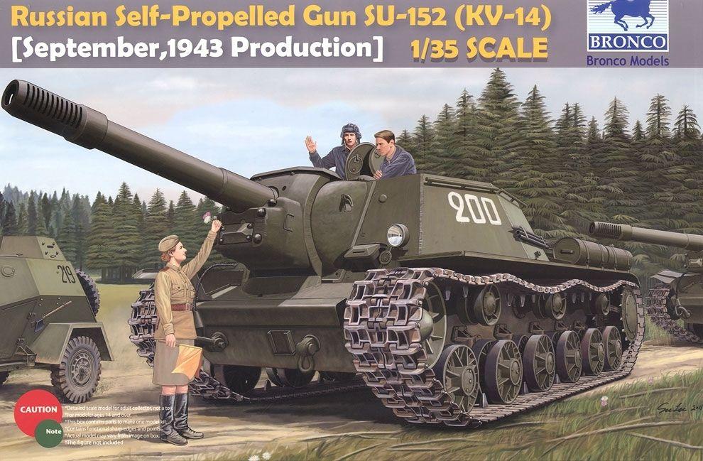 Bronco Russian SU-152 Heavy Self-Propelled Gun (Russian KV-14) Late