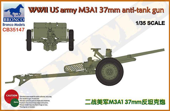 Bronco US army M3A1 37mm anti-tank gun