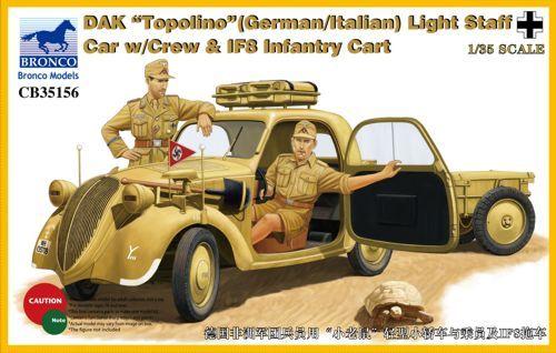 "Bronco DAK ""Topolino"" (German/Italian) Light Staff Car with Crew"