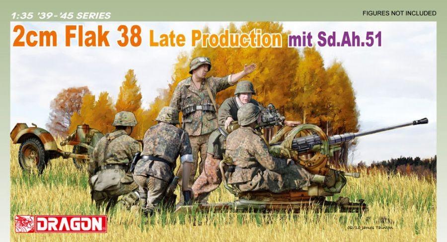 Dragon 2cm Flak 38 Late Production mit Sd.Ah.51