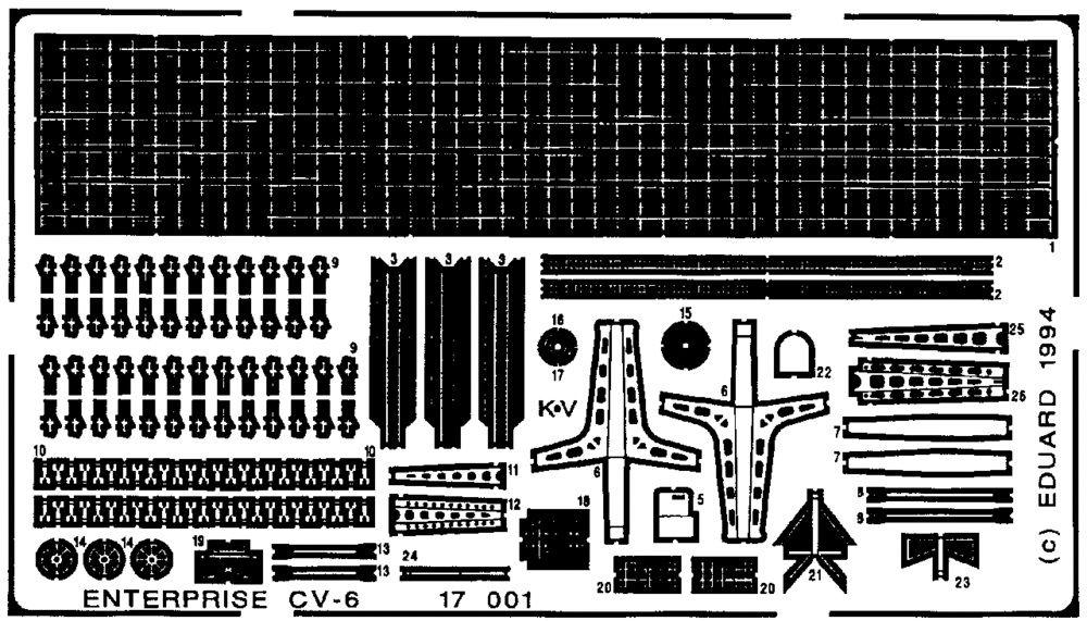 Eduard USS CV6 Enterprise (Tamiya)