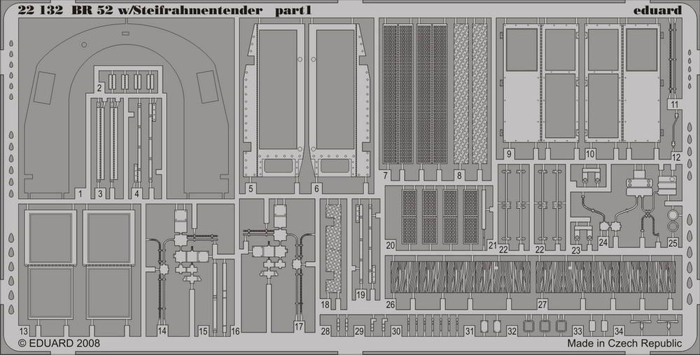 Eduard BR 52 w/Steifrahmentender p. 1 (Hobby Boss)