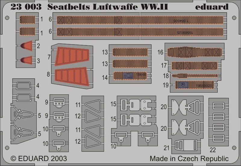 Eduard Seatbelts Luftwaffe WWII
