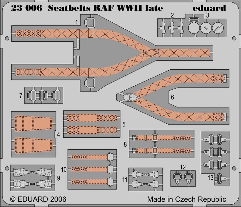Eduard Seatbelts RAF WWII late
