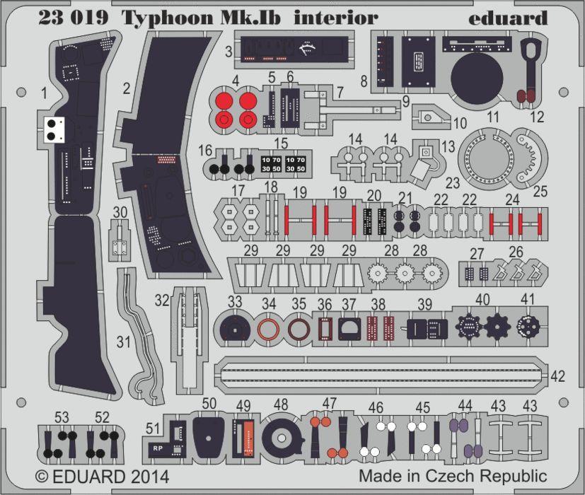Eduard Typhoon Mk.Ib interior (Airfix)