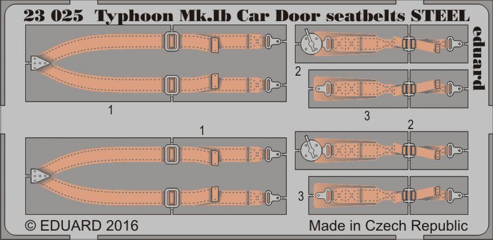 Eduard Typhoon Mk. Ib Car Door seatbelts STEEL (Airfix)