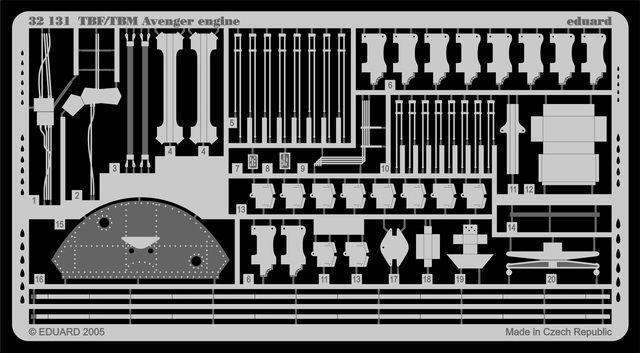 Eduard TBF/TBM engine (Trumpeter)