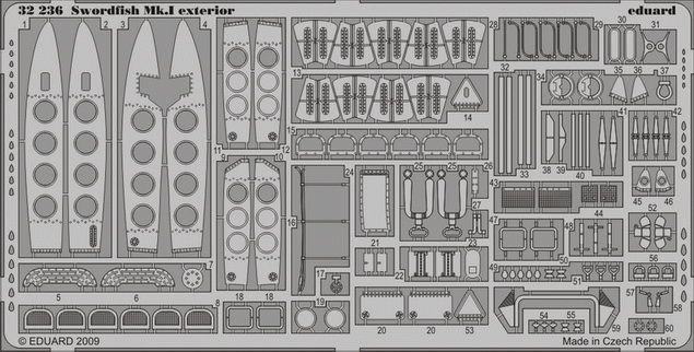 Eduard Swordfish Mk.I exterior (Trumpeter)