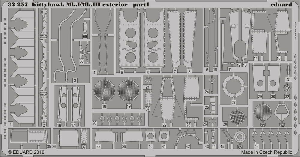 Eduard Kittyhawk Mk.I/Mk.III exterior (Hasegawa)