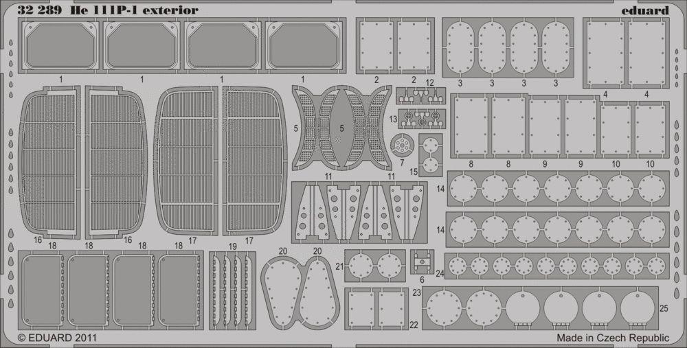 Eduard He 111P-1 exterior (Revell)
