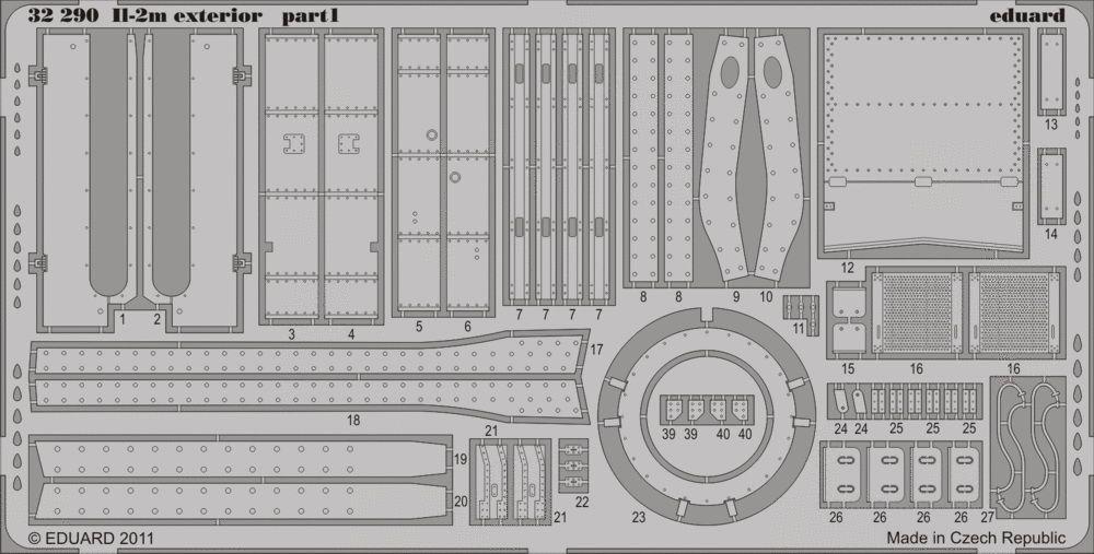 Eduard Il-2m exterior (Hobby Boss)