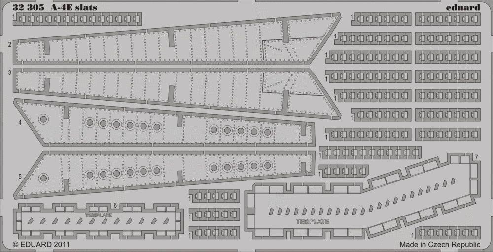 Eduard A-4E slats (Trumpeter)