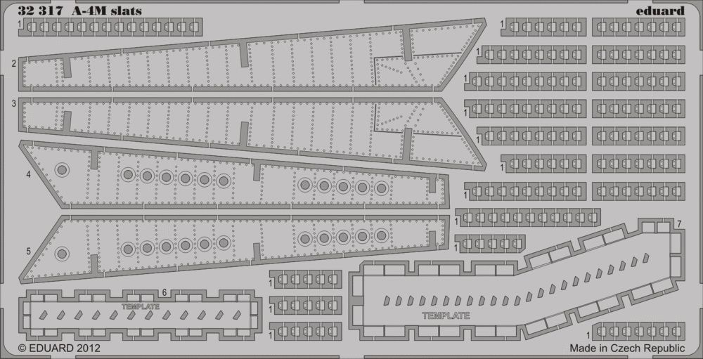 Eduard A-4M slats (Trumpeter)