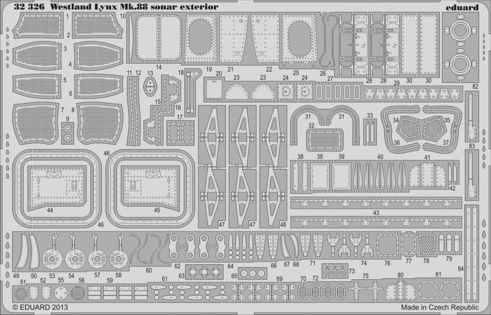 Eduard Lynx Mk.88 sonar exterior (Revell)
