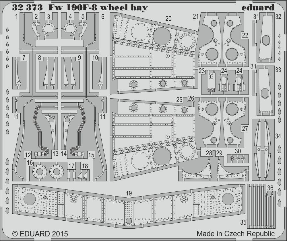 Eduard Fw 190F-8 wheel bay (Revell)