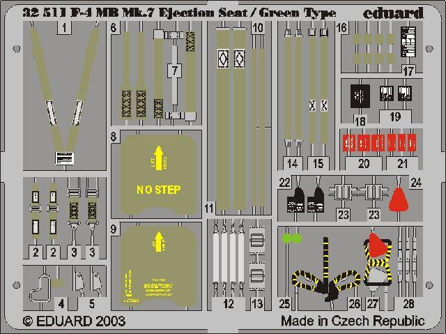 Eduard F-4 ejection seat green (Tamiya)