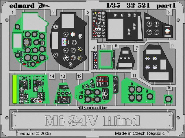 Eduard Mi-24V Hind interior (Trumpeter)