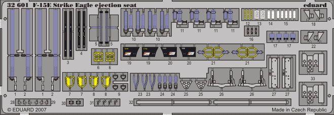 Eduard F-15E ejection seat (Tamiya)