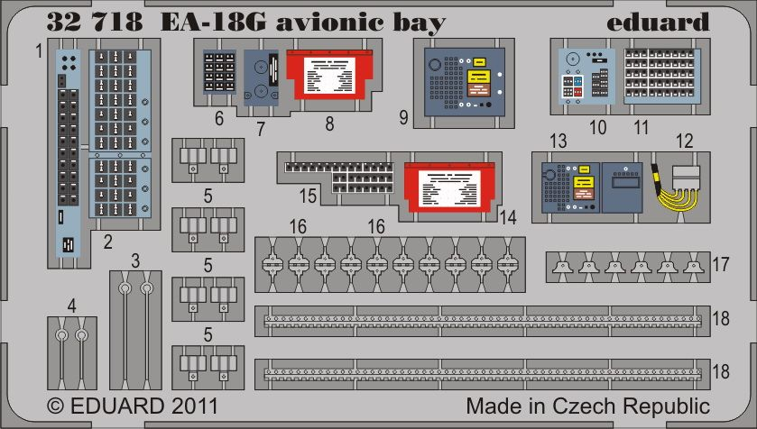 Eduard EA-18G avionic bay (Trumpeter)