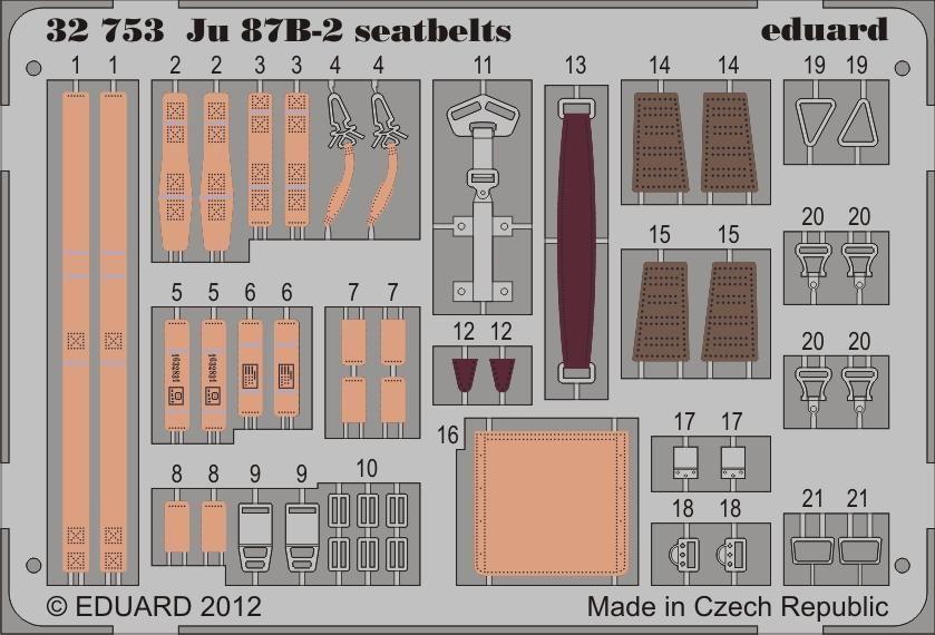Eduard Ju 87B-2 seatbelts (Trumpeter)