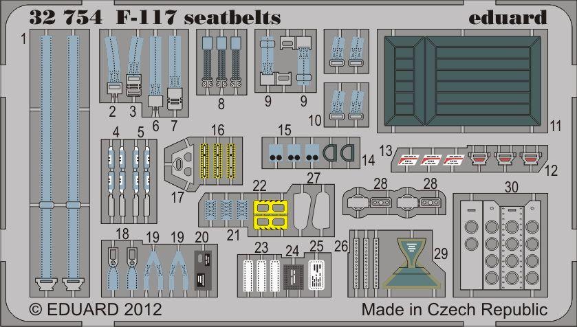 Eduard F-117 seatbelts (Trumpeter)