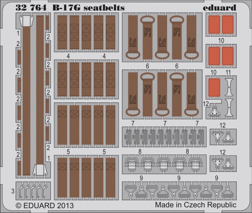 Eduard B-17G seatbelts (Hong Kong Models)