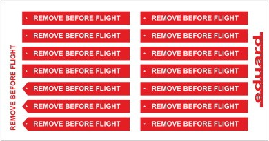 Eduard Remove Before Flight FABRIC
