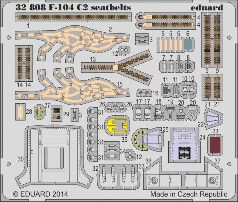 Eduard F-104 C2 seatbelts (Italeri)