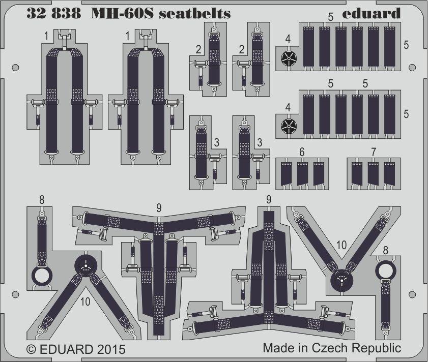 Eduard MH-60S seatbelts (Academy)