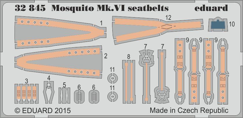 Eduard Mosquito Mk.VI seatbelts (Tamiya)