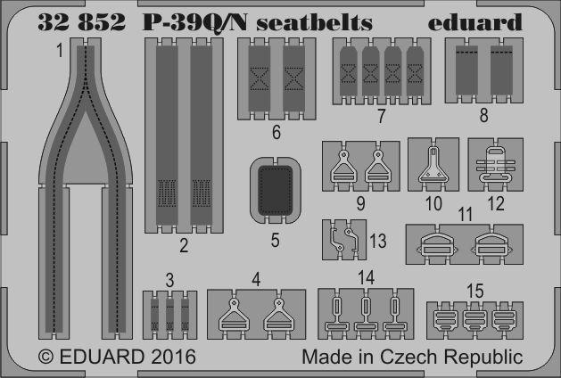 Eduard P-39Q/N seatbelts (Kitty Hawk)
