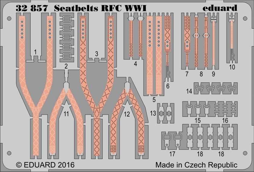 Eduard Seatbelts RFC WWI