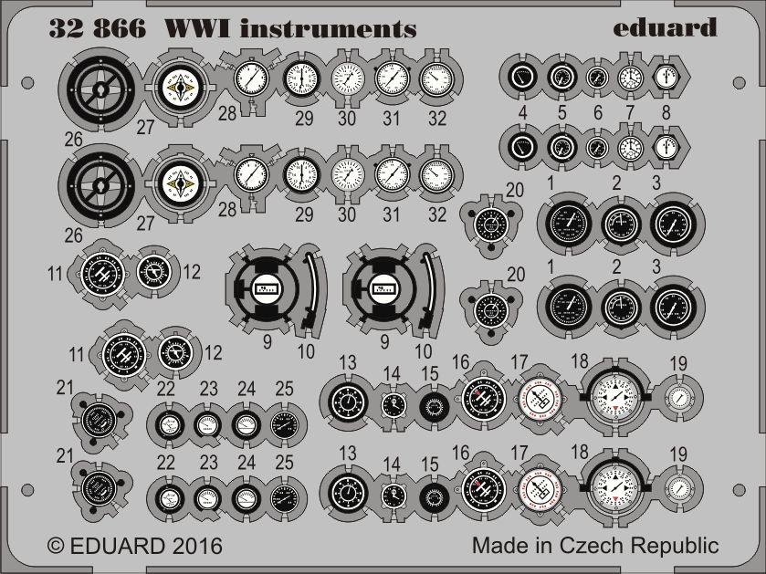 Eduard WWI instruments