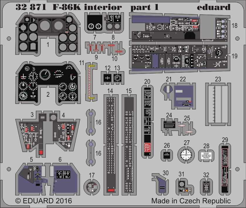 Eduard F-86K interior (Kitty Hawk)