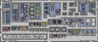 Eduard F-15E interior S.A. (Tamiya)