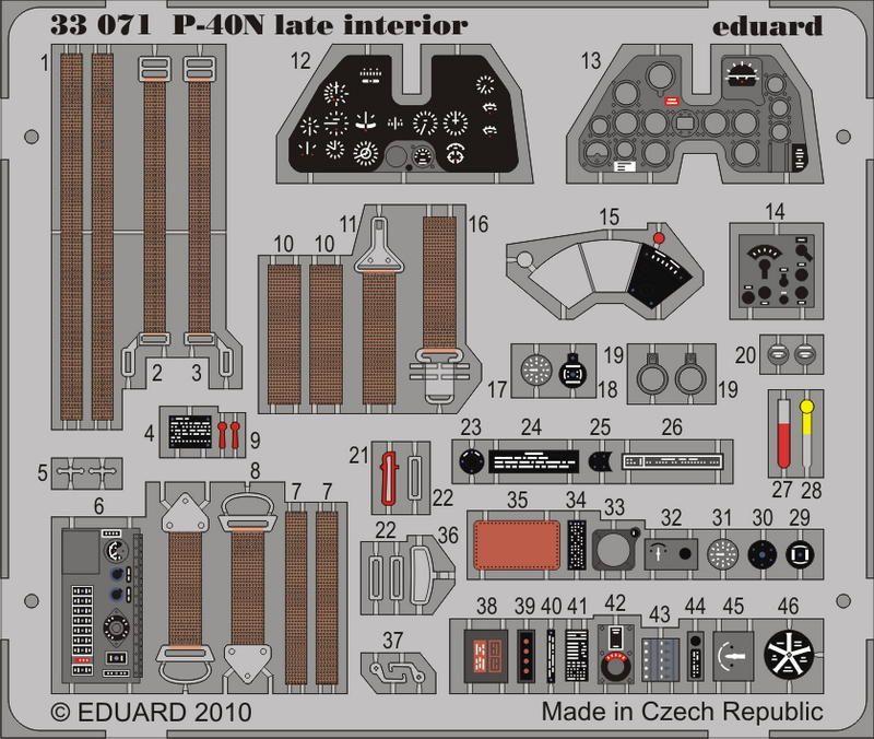 Eduard P-40N late interior S.A. (Hasegawa)