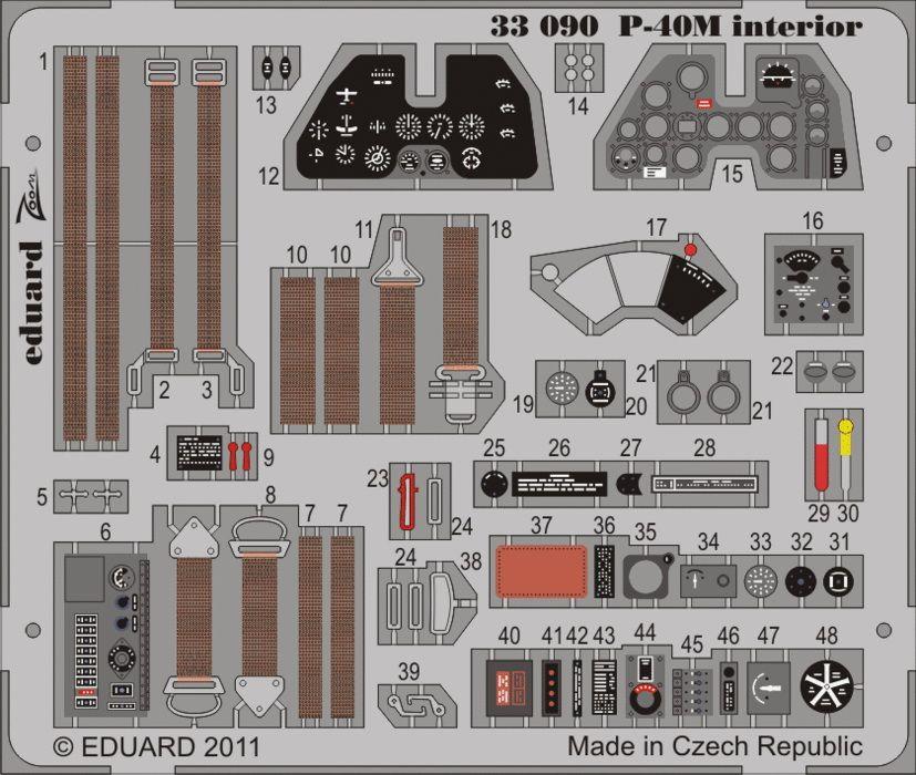 Eduard P-40M interior S.A. (Hasegawa)