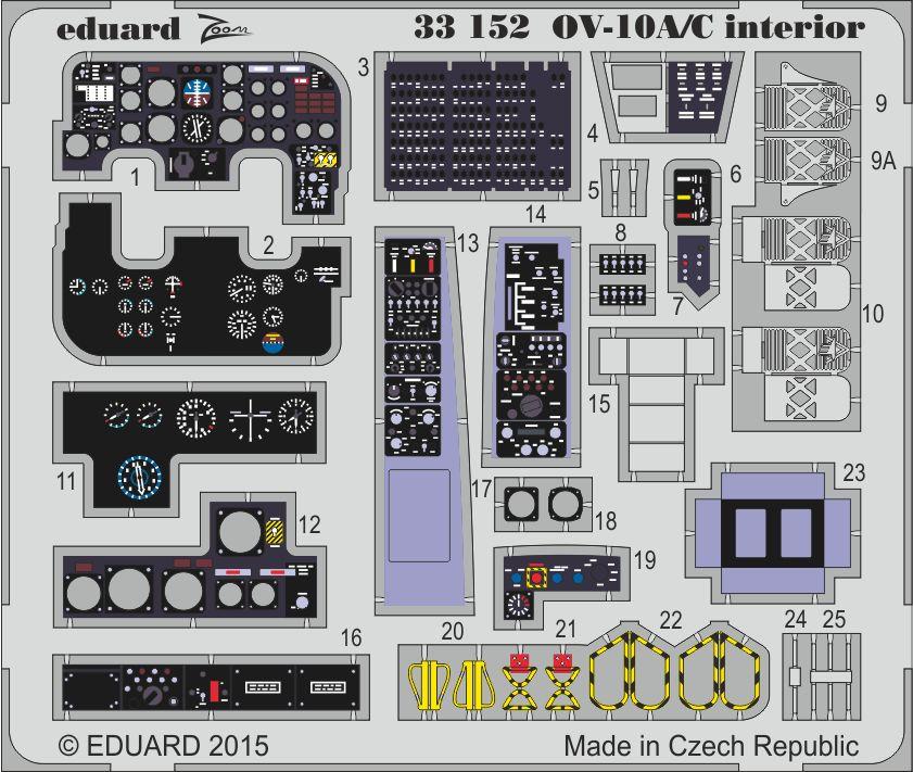 Eduard OV-10A/C interior (Kitty Hawk)