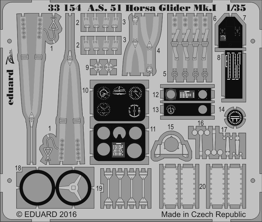 Eduard A.S. 51 Horsa Glider Mk.I (Bronco)