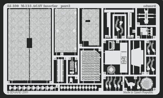 Eduard M-113 ACAV interior (Tamiya)