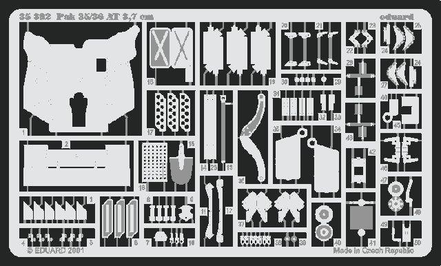 Eduard PaK.35/36  37mm (Tamiya)