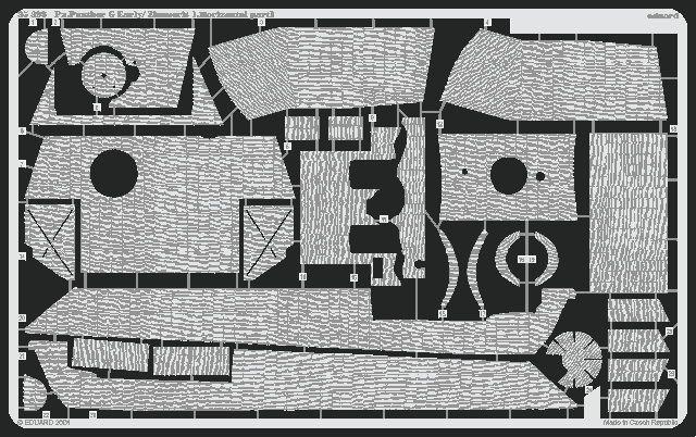 Eduard Panther Ausf.G early Zimmerit Horizontal (Tamiya)