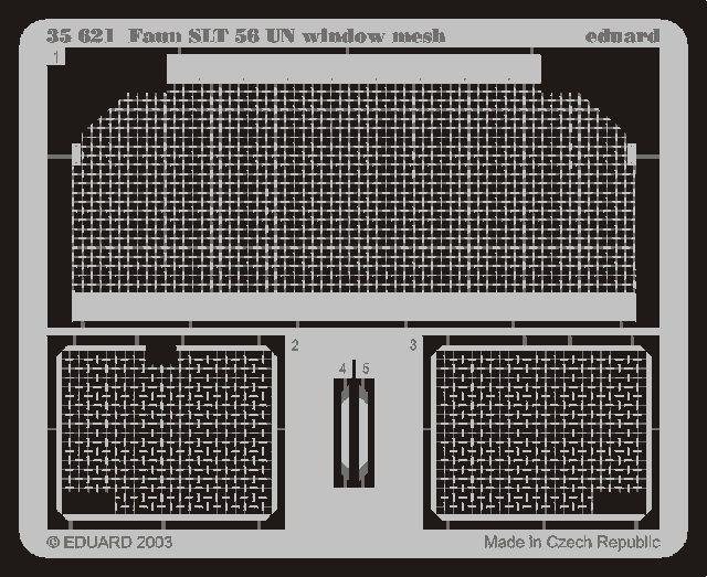 Eduard Faun SLT 56 UN window mesh (Trumpeter)