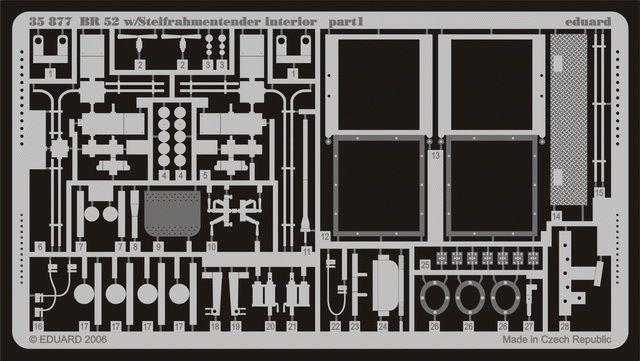 Eduard BR 52 w/Steifrahmentender interior (Trumpeter)