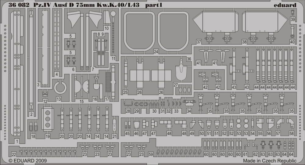 Eduard Pz.IV Ausf.D Kw.K.40/L43 75mm (Dragon)