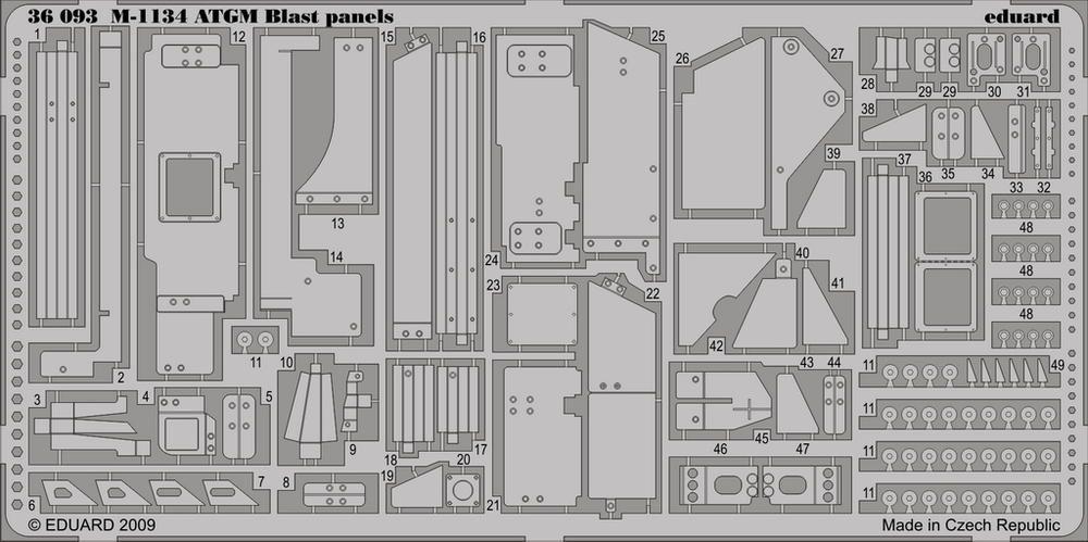 Eduard M-1134 ATGM blast panels (Trumpeter)